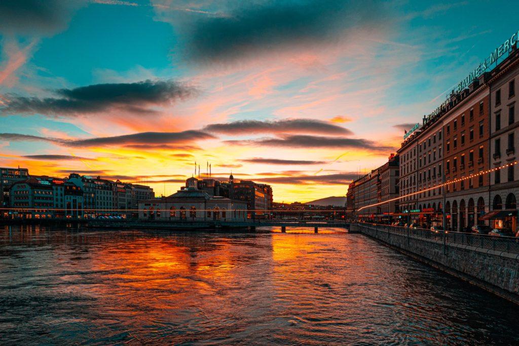 Sunset Geneva